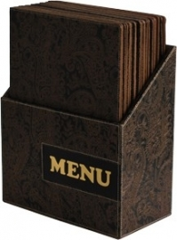 Luxe menukaarten box inclusief 10 menukaarten uit de Design serie, Paisley (MC-BOX-DRA4-Paisley)
