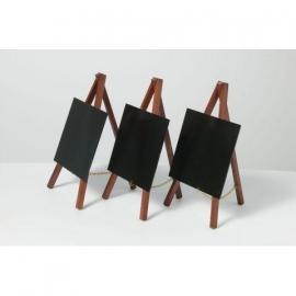 Mahonie Mini tafel bordjes, Set van 3 stuks (MNI-M-KR)
