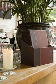 Luxe menukaarten box inclusief 20 menukaarten uit de Trendy serie, Wijnrood (MC-BOX-TRA4-WR)