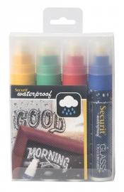 Dikke waterproof krijtstiften Gekleurd 4x (SMA820-V4)