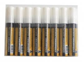 Etui met 8 stuks dikke witte krijtstiften (SMA720-V8-WT)