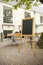 Teak houten schildersezel en krijtbord 60x80 cm (WBU-EZL-TE-60)