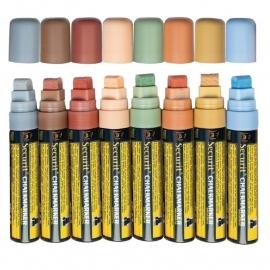Etui met 8 dikke krijtstiften in zachte aardetinten (SMA720-V8-ET)