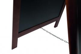 Stoepbord Donkerbruin hout Deluxe Groot 120x70 cm (SBS-DB-120)