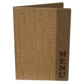 Beige kurk menukaart A4, Design (MC-DRA4-CORK)