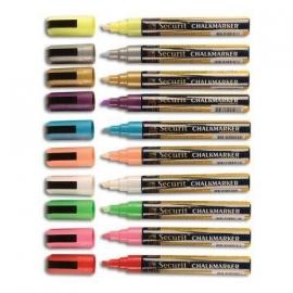 Etui met 8 stuks dunne krijtstiften in div. kleuren (SMA510-V8)