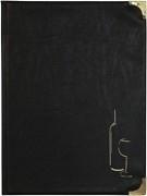 Zwarte wijnkaart Basic A4 (MC-BRWC-BL)