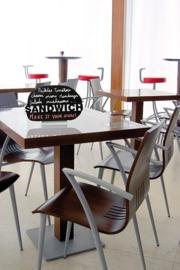 6x tafel-krijtbordje op aluminium voet Sandwich (FBTA-SANDWICH)
