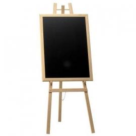 Blank houten schildersezel en krijtbord 60x80 cm (WBU-EZL-B-60)