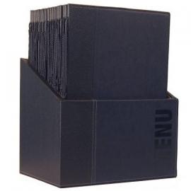 Luxe menukaarten box inclusief 20 menukaarten uit de Trendy serie, Blauw (MC-BOX-TRA4-BU)