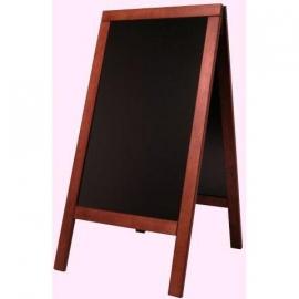 Stoepbord Mahonie hout Deluxe Groot 135x70 cm (SBS-M-135)