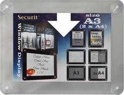 2x Grijs raam poster frame A3 of 2x A4 (PFW-A3-GY)