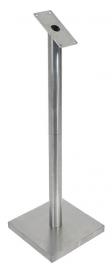RVS staander voor Menukast met glasplaat A4 (MCS-BA-85-SET)