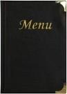 Zwarte menukaart Basic A5 (MC-BRA5-BL)