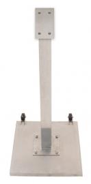 RVS Staander met Voet voor gekleurde LED Menukaart Vitrines, 120 cm (MCS-BA-120-SET)