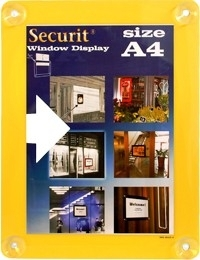 2x Geel raam poster frame A4 (PFW-A4-YE)