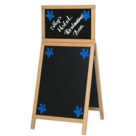 Stoepbord met Topbord Blank hout Deluxe 120x55 cm (SDT-B-120)