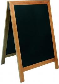 Stoepbord Teak hout Deluxe 85x55 cm (SBD-TE-85)