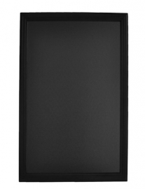 Zwart houten Wandbord Universal met ingefreesde lijst, 70x90 cm (WBU-BL-70)