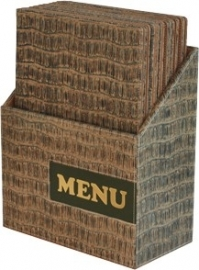Luxe menukaarten box inclusief 10 menukaarten uit de Design serie, Reptile (MC-BOX-DRA4-Reptile)