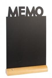 6x tafel-krijtbordje op Blank houten voet Memo (FBT-MEMO)