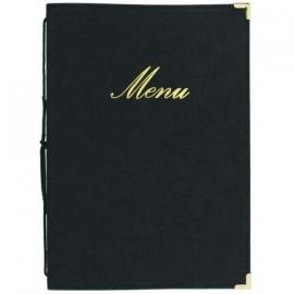 Zwarte menukaart Classic A4 (MC-CRA4-BL)