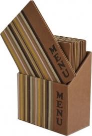 Luxe menukaarten box inclusief 10 menukaarten uit de Design serie, Vogue (MC-BOX-DRA4-Vogue)
