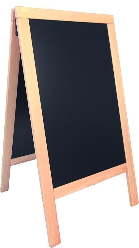 Stoepbord Blank hout Deluxe Groot 135x70 cm (SBS-B-135)