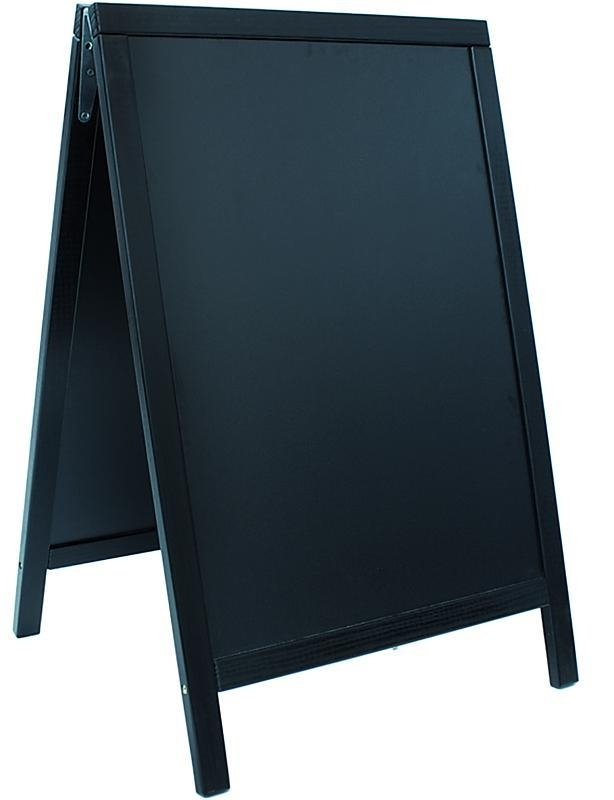 Stoepbord Zwart Woody 85x55 cm (SBD-BL-85)