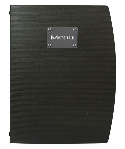 Zwarte kunststof menukaart A4, Brazil (MC-RCA4-BL)