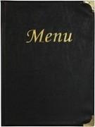 Zwarte menukaart Basic A4 (MC-BRA4-BL)