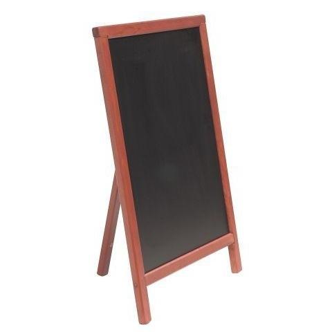 Stoepbord Mahonie hout Mono 85x55 cm (MBS-M-85)