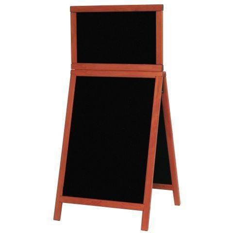 Stoepbord met topbord Mahonie hout Deluxe 120x55 cm (SDT-M-120)