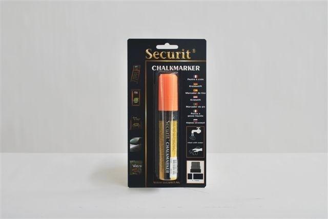 Dikke krijtstift in de kleur oranje