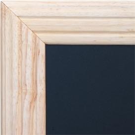 Blank Wandbord Universal met ingefreesde lijst, 40x50 cm (WBU-B-40)