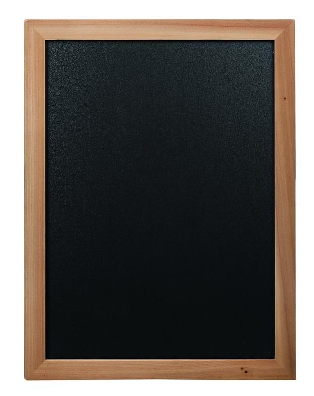 Goedkoop krijtbord Teak hout 60x80cm (WBW-TE-60-80)