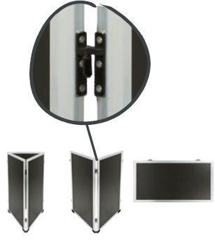 Kunststof Multi stoepbord - krijtbord Wit (SBM-WW-115)