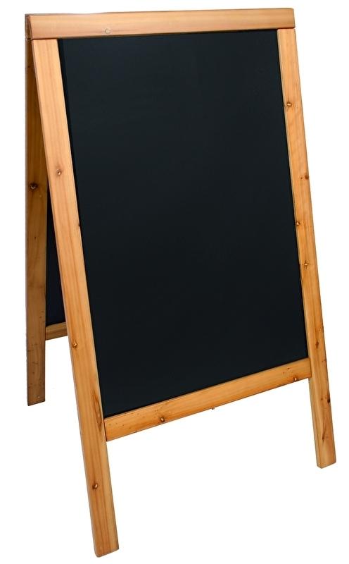 Stoepbord Teak hout Woody Groot 125x70 cm (SBSW-TE-120)