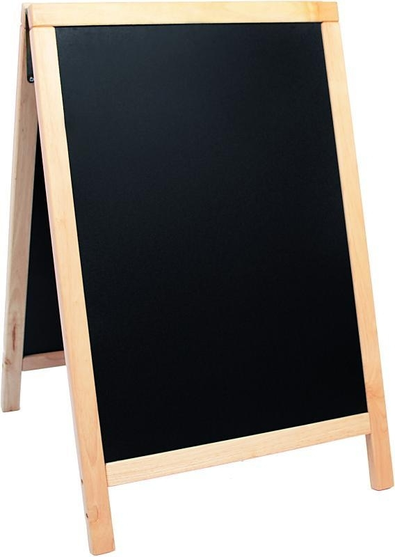 Stoepbord Blank hout Deluxe 85x55 cm (SBD-B-85)