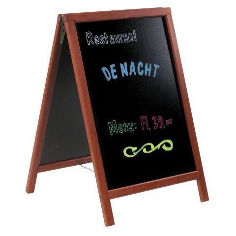 Stoepbord Mahonie hout Deluxe 85x55 cm (SBD-M-85)