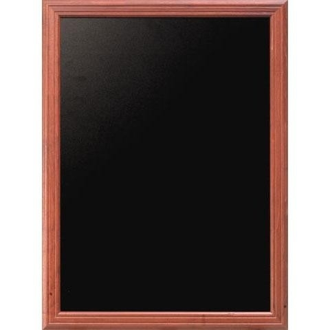 Mahonie Wandbord Universal met ingefreesde lijst, 40x50 cm (WBU-M-40)