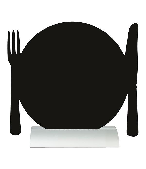 6x tafel-krijtbordje op aluminium voet Bord (FBTA-PLATE)