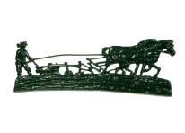 Muurversiering ploegende boer (klein)