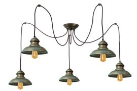 Maritiem plafondlamp met 5 lampen F233354