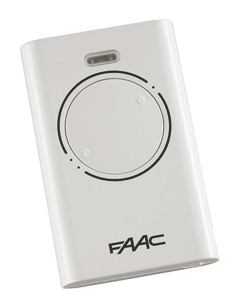 Faac handzender XT2 868 SLH Zender 2 kanalen wit