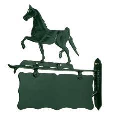 Uithang-/ Naambord paard zwart