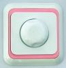 Dimmer 1000Watt   / inbouw  Wit/roze