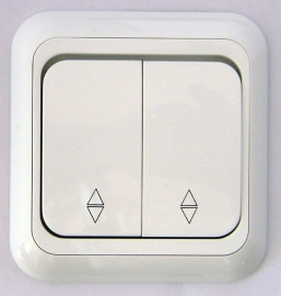 Wisselschakelaar( Kruis)r  , twee knoppen/hotel   (compleet)