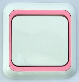 schakelaar met roze rand   (compleet)