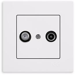 Coax Sat / tv    wandcontactdoos  (compleet) / Egona